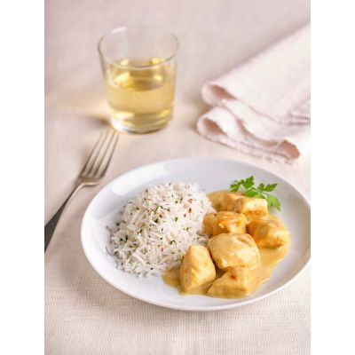Taquitos de Pollo al Curry con Arroz Basmati