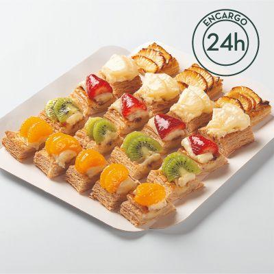 Bandeja mini hojaldres de fruta (500gr)