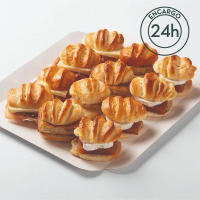 Bandeja de mini brioches variados (12 uds)