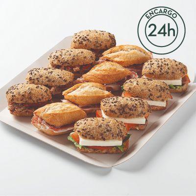 Bandeja mini bocadillos especialidad Fornet (12 uds)